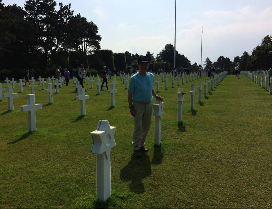 danny-at-normandy-cemetary